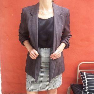 Vintage Boyfriend Blazer/Jacket in Charcoal